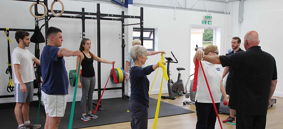 Physio led classes in the gym